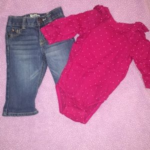 Super cute Oshkosh outfit. Size 6 months